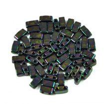 Miyuki féltila gyöngy - 454 - metál sötét szolva írisz - 2.5x5mm