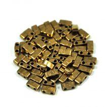 Miyuki Half Tila 2 Hole Japanese Seed Bead -457 Bronze 2 5x5mm