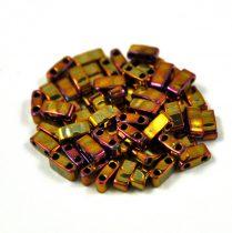Miyuki féltila gyöngy - 462 - arany írisz - 2.5x5mm - 10g-AKCIOS
