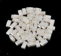 Miyuki Half Tila 2 Hole Japanese Seed Bead -592 Ceylon Cream 2 5x5mm