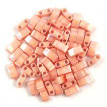 Miyuki Half Tila 2 Hole Japanese Seed Bead -596 Lustered peach 2 5x5mm