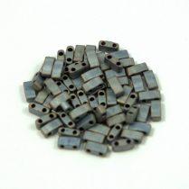 Miyuki Half Tila 2 Hole Japanese Seed Bead -2002 Matte Metallic Gunmetal Iris 2 5x5mm 10g