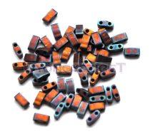 Miyuki féltila gyöngy - 2005 - matt metál sötét málna írisz - 2.5x5mm