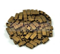 Miyuki Half Tila 2 Hole Japanese Seed Bead -2006 Matte Metallic Bronze 2 5x5mm 10g