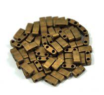 Miyuki Half Tila 2 Hole Japanese Seed Bead -2006 Matte Metallic Bronze 2 5x5mm