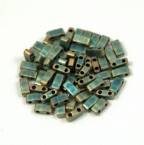 Miyuki féltila gyöngy - 2008 - matt metál patina írisz - 2.5x5mm