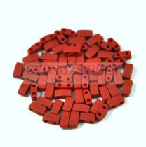 Miyuki Half Tila 2 Hole Japanese Seed Bead -2040 Matte Metallic brick Red 2 5x5mm 10g