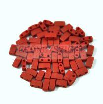 Miyuki féltila gyöngy - 2040 - telt matt metál téglavörös - 2.5x5mm - 10g-AKCIOS