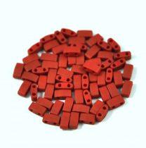 Miyuki féltila gyöngy - 2040 - telt matt metál téglavörös - 2.5x5mm