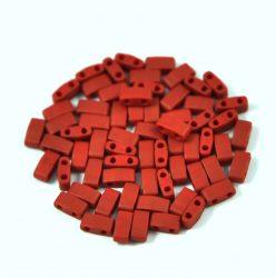 Miyuki féltila gyöngy - 2040 - Opaque Matt Metallic Brick Red - 2.5x5mm