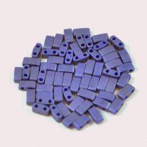 Miyuki Half Tila 2 Hole Japanese Seed Bead -2075 Matte Opaque Cobalt luster 2 5x5mm