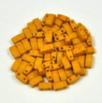 Miyuki Half Tila 2 Hole Japanese Seed Bead -2312 Matte Opaque Mustard 2 5x5mm