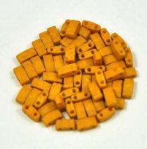 Miyuki Fél Tila japán üveggyöngy - 2312 - matte opaque mustár - size: 2.5x5mm - 50g
