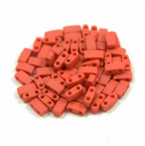 Miyuki Half Tila 2 Hole Japanese Seed Bead -2315 Matte Opaque terra cotta 2 5x5mm