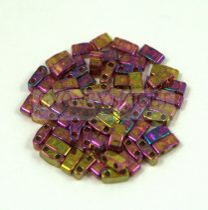 Miyuki féltila gyöngy - 301 - szivárvány lüszteres rose gold - 2.5x5mm - 10g-AKCIOS