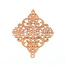 Fülbevaló alap - viragok - rosegold - 30x24mm