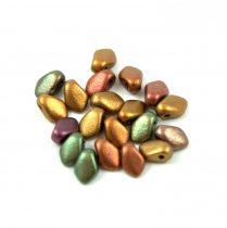 Gekko - Czech Pressed Petal Bead - Metallic Gold Iris - 3x5mm