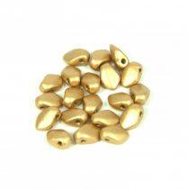 Gekko - cseh préselt szirom gyöngy - Aztec Gold - 3x5mm