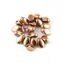 Gekko - Czech Pressed Petal Bead - Crystal Capri Gold Full - 3x5mm