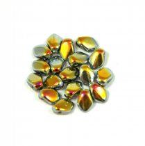 Gekko - Czech Pressed Petal Bead - Crystal Marea - 3x5mm