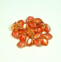 Gekko - cseh préselt szirom gyöngy - Crystal Apricot Medium - 3x5mm - 100db - AKCIOS
