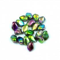 Gekko - cseh préselt szirom gyöngy - Crystal Magic Orchid - 3x5mm