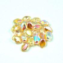 Gekko - cseh préselt szirom gyöngy - Crystal Champagne Rainbow - 3x5mm