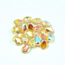 Gekko - Czech Pressed Petal Bead - Crystal Champagne Rainbow - 3x5mm