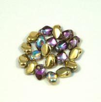 Gekko - cseh préselt szirom gyöngy - Crystal Golden Rainbow - 3x5mm