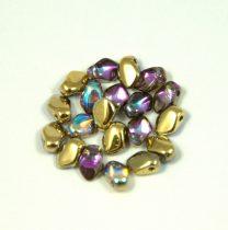 Gekko - Czech Pressed Petal Bead - Crystal Golden Rainbow - 3x5mm