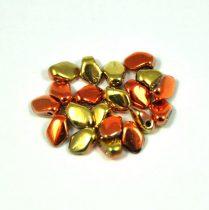 Gekko - Czech Pressed Petal Bead - California Gold Rush - 3x5mm