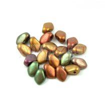 Gekko - cseh préselt szirom gyöngy - Metallic Gold Iris - 3x5mm - 100db - AKCIOS