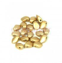 Gekko - cseh préselt szirom gyöngy - Aztec Gold - 3x5mm - 100db - AKCIOS
