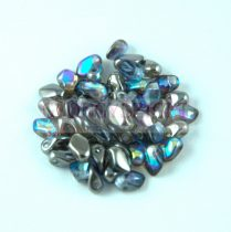 Gekko - cseh préselt szirom gyöngy - Crystal Blue Rainbow - 3x5mm - 100db - AKCIOS