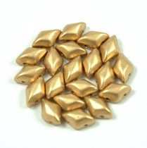 Gemduo cseh préselt üveggyöngy - Aztec Gold - 5x8 mm