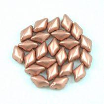 Gemduo cseh préselt üveggyöngy - Matte Metallic Copper - 5x8 mm