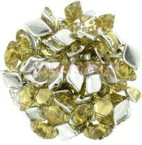 Gemduo cseh préselt üveggyöngy - Backlit - Tea - 5x8 mm