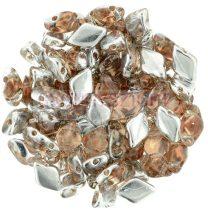 Gemduo cseh préselt üveggyöngy - Backlit - Peach - 5x8 mm