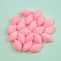 Gemduo cseh préselt üveggyöngy - Bondeli Matt Soft Pink - 5x8 mm