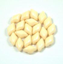 Gemduo cseh préselt üveggyöngy - ivory - 5x8 mm
