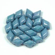 Gemduo cseh préselt üveggyöngy - White Blue Luster - 5x8 mm