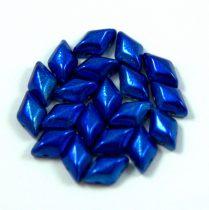 Gemduo cseh préselt üveggyöngy - metalust azuro - 5x8 mm