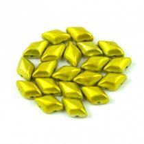 Gemduo cseh préselt üveggyöngy - metalust yellow gold - 5x8 mm