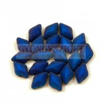 Gemduo cseh préselt üveggyöngy - Metalust Crown Blue Mat - 5x8 mm