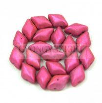 Gemduo cseh préselt üveggyöngy - Metalust Hot Pink Mat - 5x8 mm