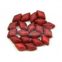 Gemduo cseh préselt üveggyöngy - Metalust Lipstick Red Mat - 5x8 mm
