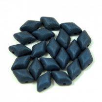 Gemduo cseh préselt üveggyöngy - matte metallic dark blue - 5x8 mm