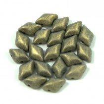 Gemduo cseh préselt üveggyöngy - Matte Metallic Clay - 5x8 mm