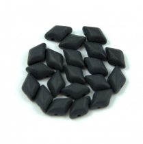 Gemduo Czech Pressed Glass Bead - Jet Matte  - 5x8 mm