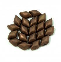 Gemduo cseh préselt üveggyöngy - bronz matte - 5x8 mm